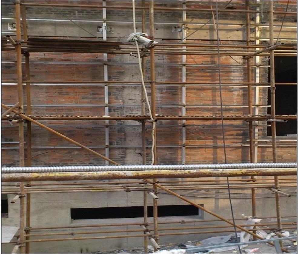 外墙双排钢管脚手架施工搭建