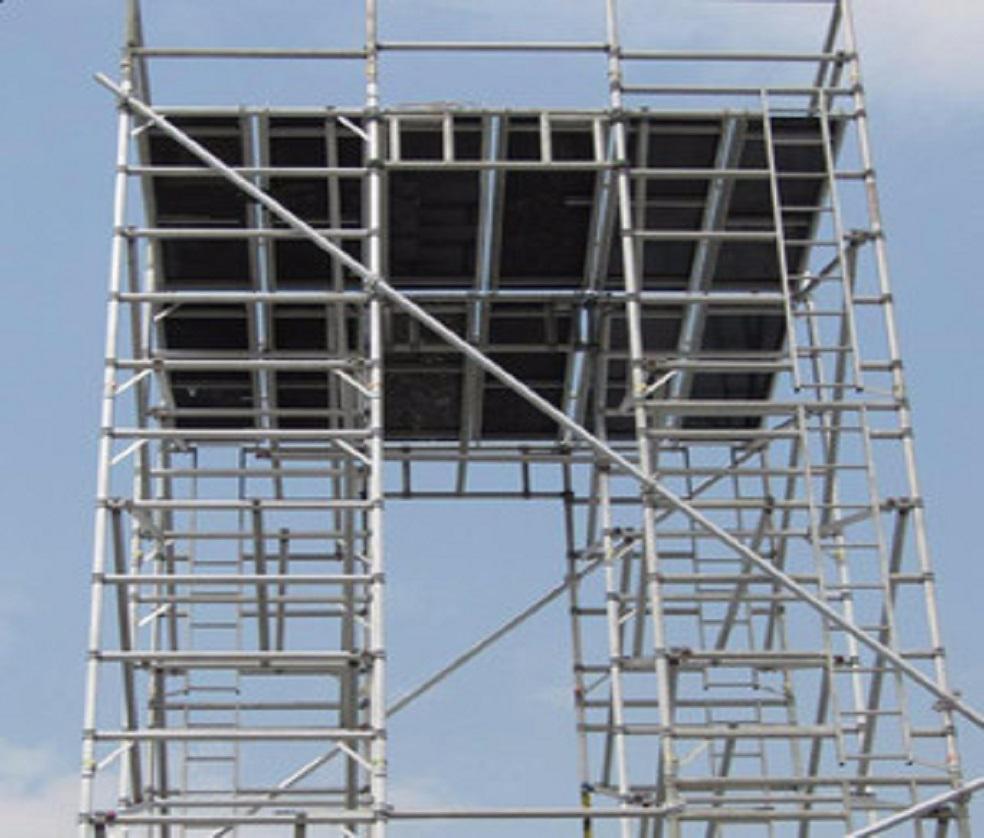 电力跨域移动钢管脚手架架设