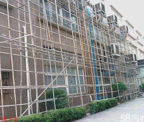 北培区外墙双排钢管脚手架施工搭建