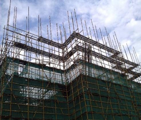 外墙双排钢管脚手架施工图