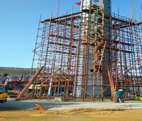 北培区电力跨越钢管脚手架搭建