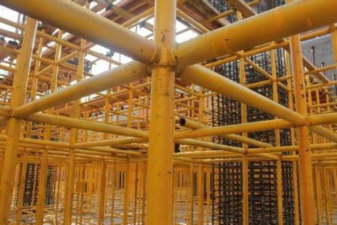 江北区楼盘主体钢管脚手架框架