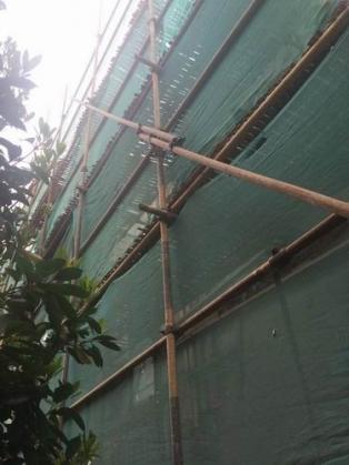 璧山楼盘主体钢管脚手架搭建
