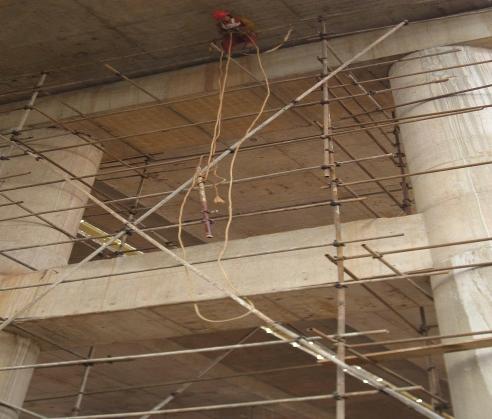 嘉陵江桥梁钢管脚手架搭建